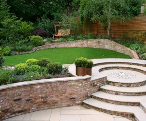 Brick Walls, Brick Flower Border, Brick Steps